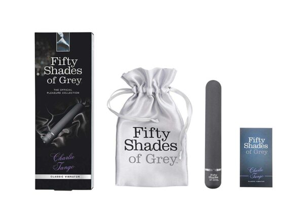Fifty shades vibrator with satin bag
