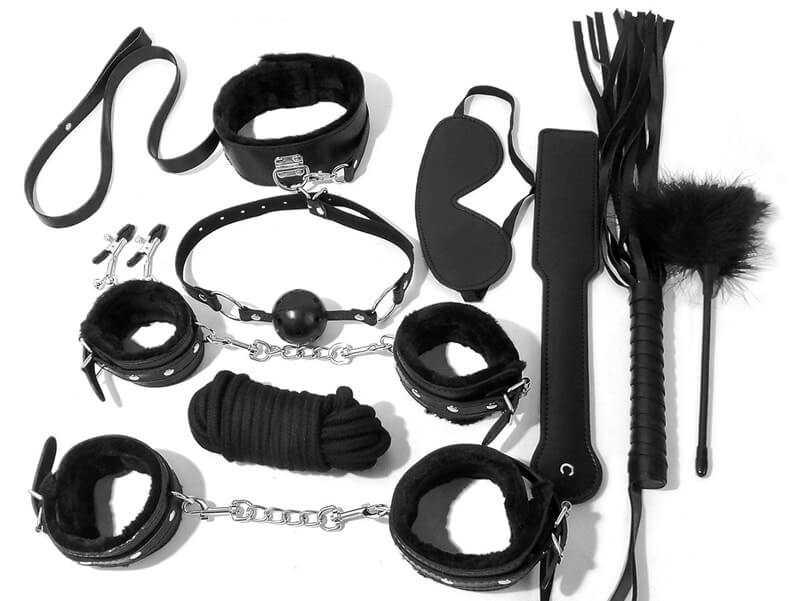 Bondage photo sets Bondage Set 10 Piece Bdsm Kit Fetish Play Sets