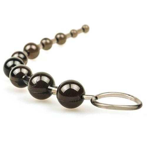 Sassy 10 Beads Anal Toy (Black) - PLEASURE ATTIC - UK's Best Low Cost Adult Toys