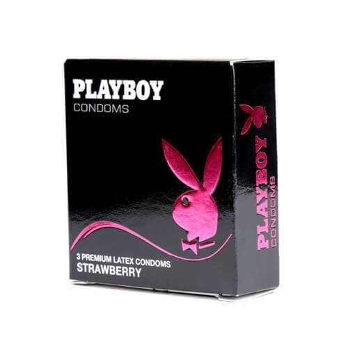 Strawberry condoms by Playboy