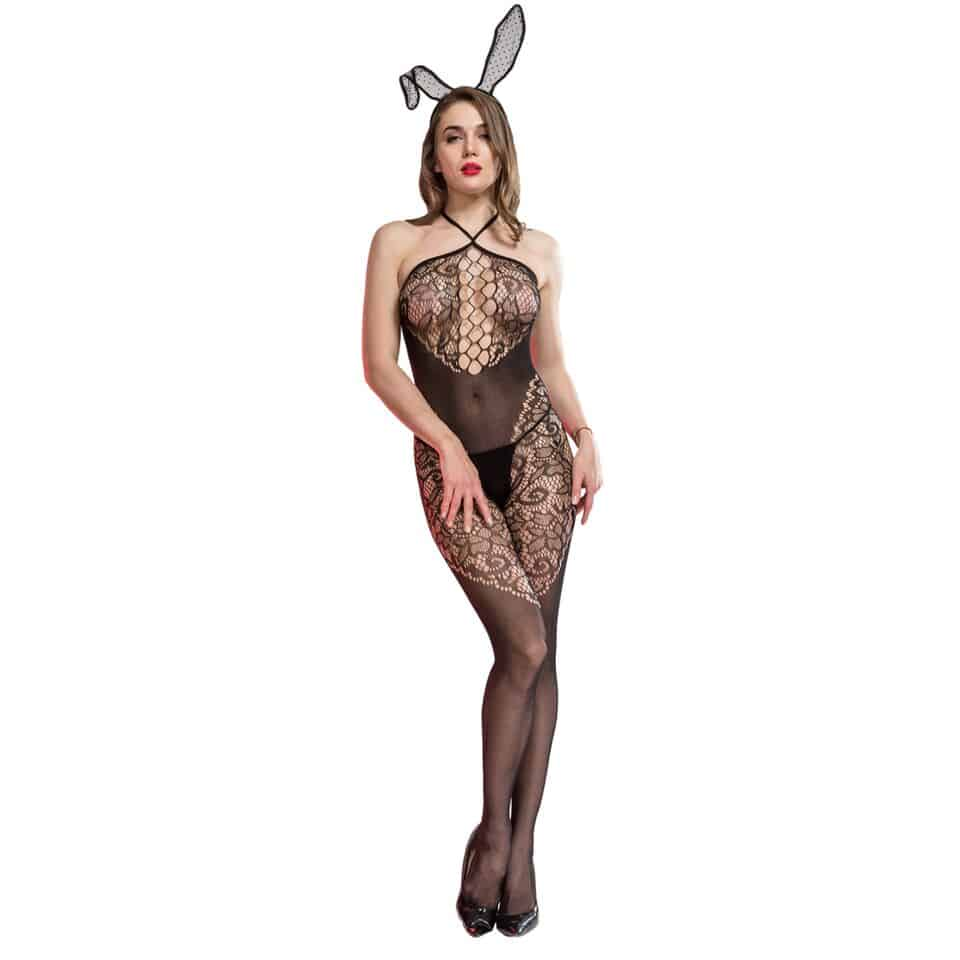 Ella crotchless body stocking