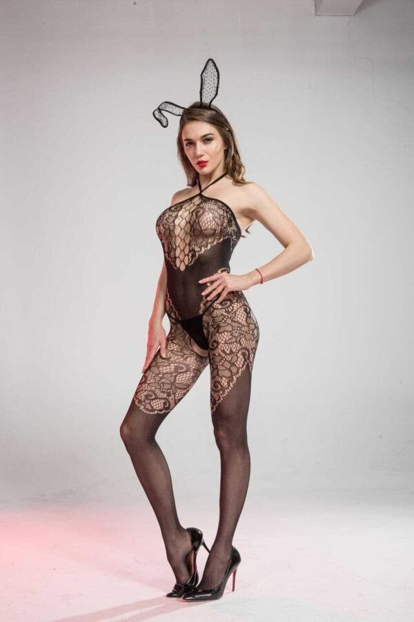 Ella crotchless body stocking 3