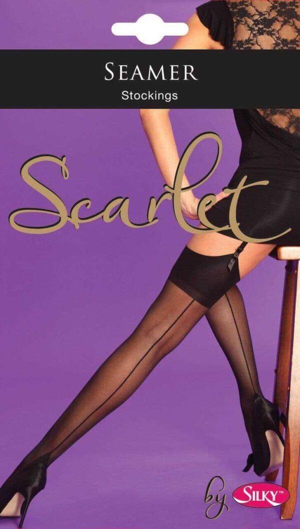 Scarlet Black Seamer stockings1