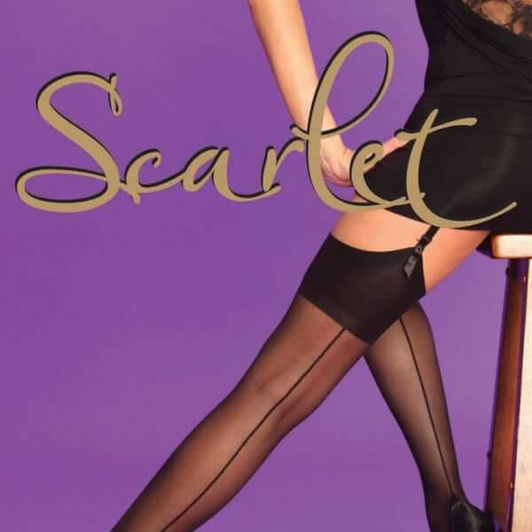 Scarlet Black Seamer stockings1