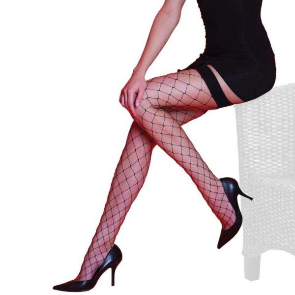 Silky whale net fishnet stockings