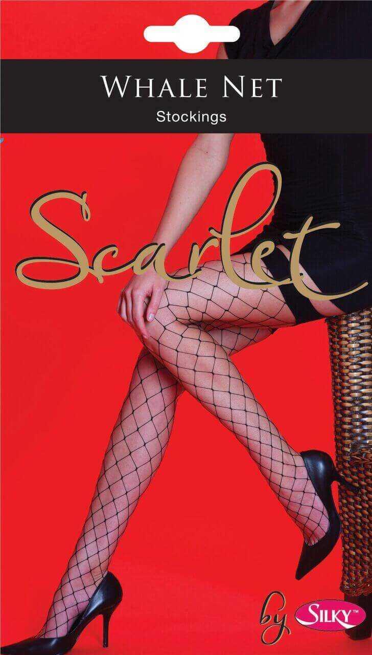 Scarlet whale net fishnet stockings packaging