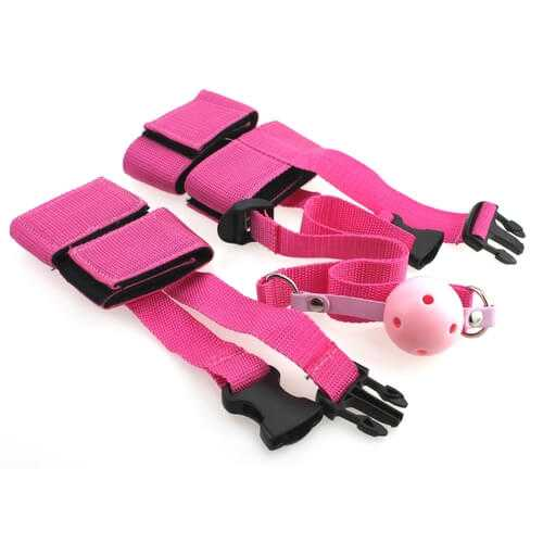 Pink restraints set